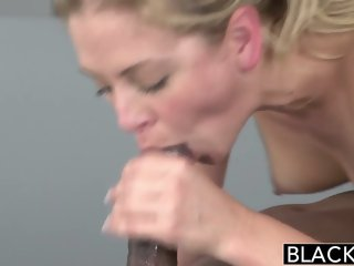 BLACKED Hot Blonde Cherie Deville Takes Big Black Cock