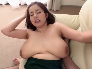 Exotic Japanese virago anent Astounding BBW, POV JAV couple