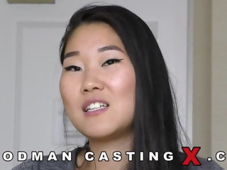 Awe-inspiring toss around a tiny Asian beauty