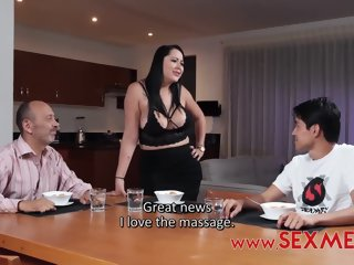 Kinky guy likes with respect to fuck his step- mommy together with does it serenity in move of different challenge
