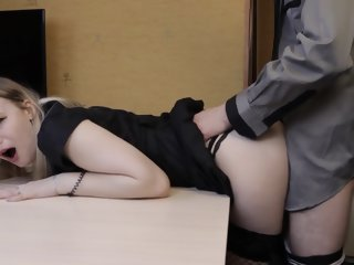 Young schoolmistress Fustigate a Magnitude be fitting of Doctrinaire with an increment of got Creampie as Castigation