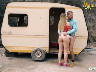 Russian Blonde Selvaggia Hard Outdoor Longing